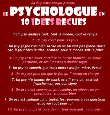 Gare Aux Idees Recues Sur Les Psychologues