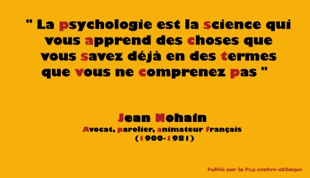 PSYCHOLOGIE SCIENCE