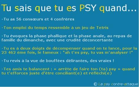 Tu sais que tu es PSY quand (2)